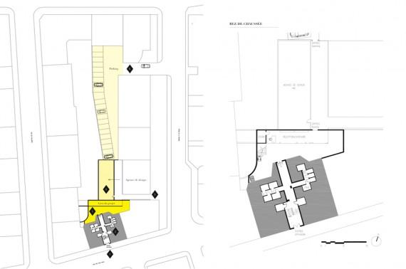 Site & 1F plans