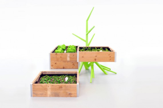Built prototype of planter boxes.
